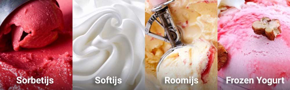 Welke soorten ijs kan je maken met een ijsmachine