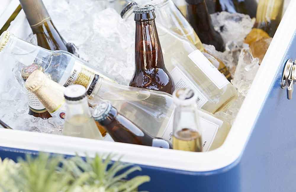 Passieve koelbox met ijsblokjes