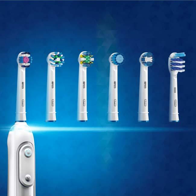 Verschillende opzetstukken voor elektrische tandenborstels
