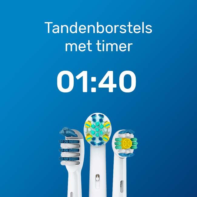 Elektrische tandenborstels met wisseltimer en eindtimer