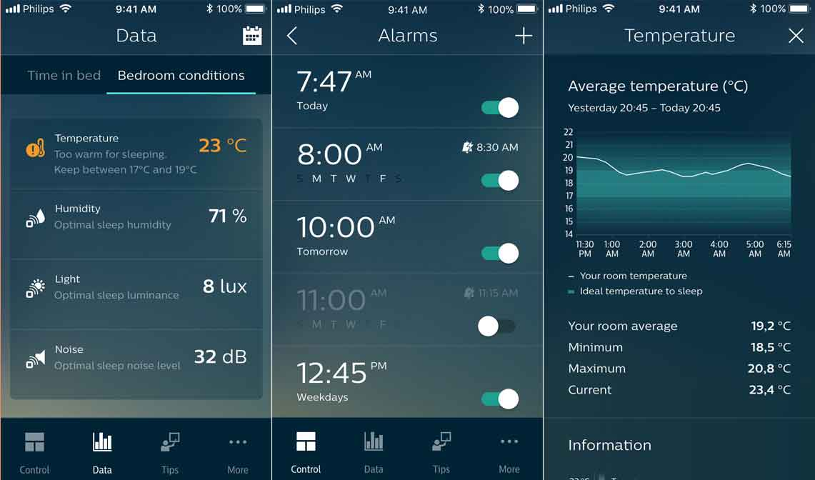 SleepMapper Smartphone App voor iOS en Android voor wake-up lights