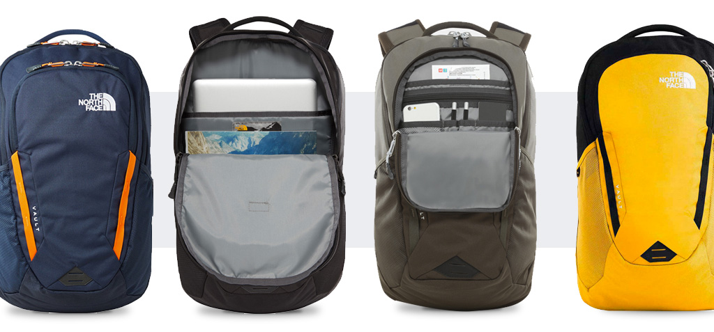 The North Face Vault laptoptas in vier verschillende kleuren