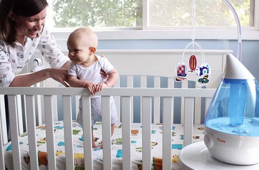 Luchtvochtigheid in babykamers