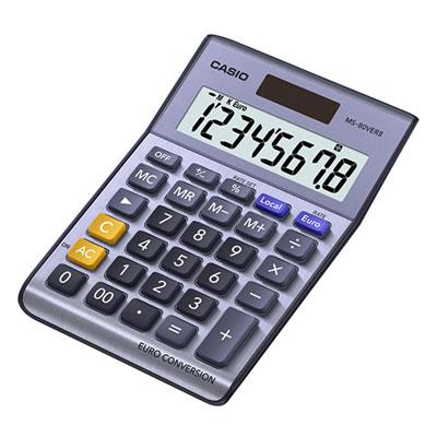 Casio MS 80VERII is de beste rekenmachine voor kantoor en thuisgebruik