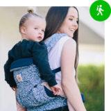 Een rugdrager draagzak voor baby's en peuters