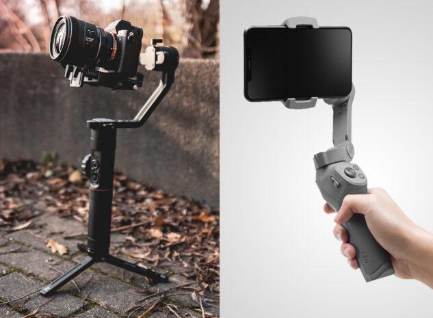 Gimbals voor camera's en smartphones